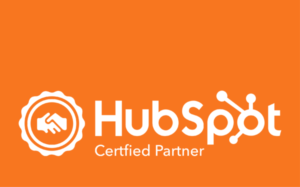 HubSPot Agency Partner Logo - Orange Background