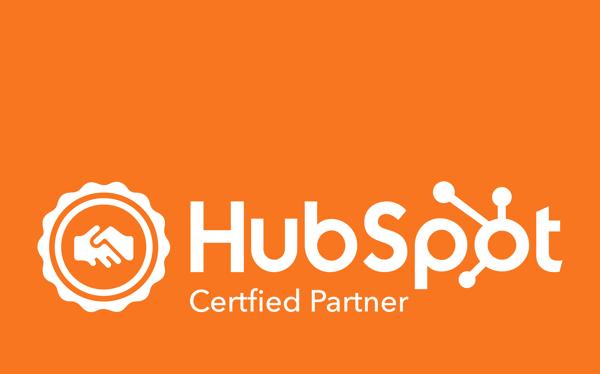 HubSPot Agency Partner Logo - Orange Background